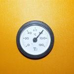 Teplota dosažená v horní části PAST 600 při teplotě otopné vody 45°C a venkovní teplotě - 4°C