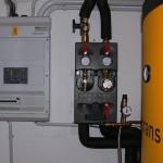 Řídící a rozvaděčová jednotka osazená SIEMENS RVS21, solární čerpadlová jednotka s čerpadlem Laing 12V=, PAST 750