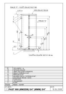 PAST 900 - model M (list 2)